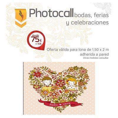 Photocall barato para bodas